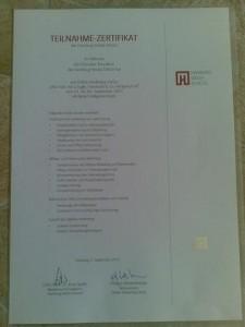 Beispiel-Zertifikat OMC der HMS