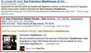 Screenshot der Bing- und Facebook-Suche