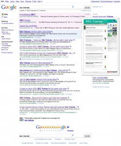 Google Preview Seo-Trainee