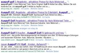 Suchanfrage nach Golf Auspuff