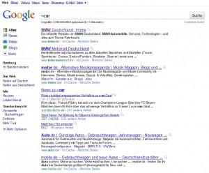Eingabe von Tilde bei Google