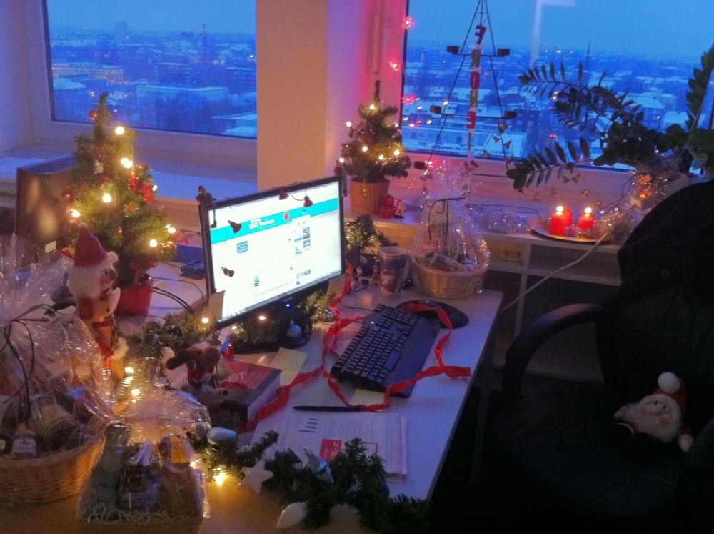 SEO-Trainee-Weihnachtsschreibtisch