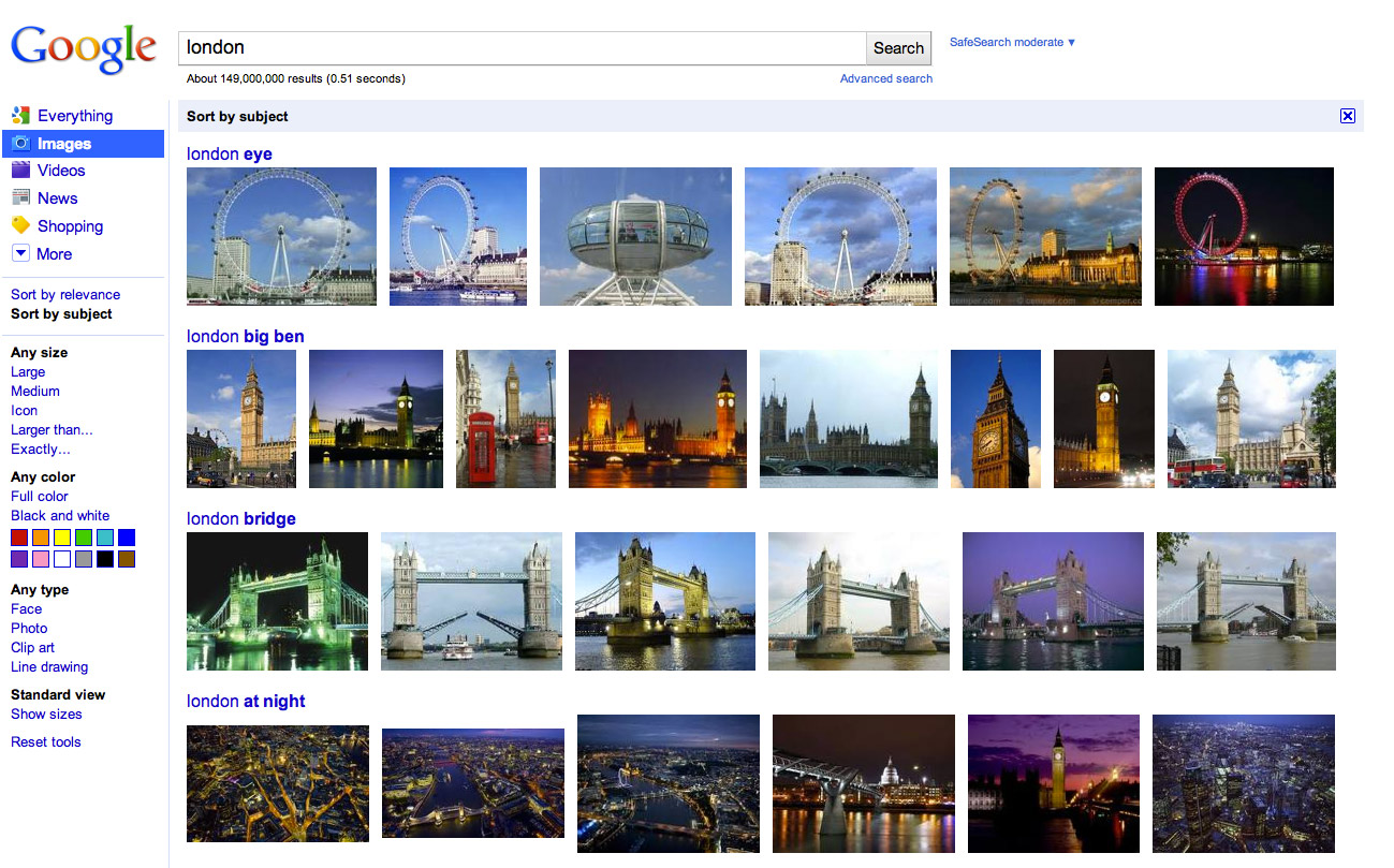 google-images-sort-by-subject-london