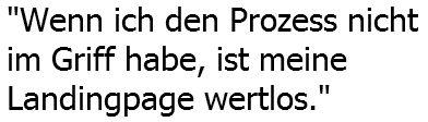 Zitat von Karl Kratz zu Landingpages
