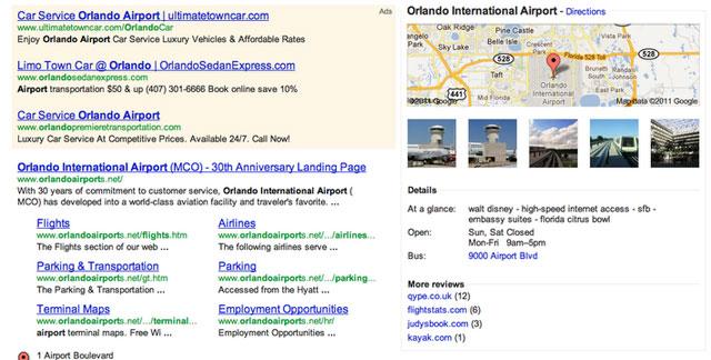 Experimente mit Google-Maps-Einblendungen