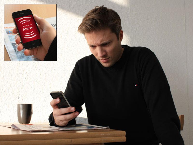 Der Jungfrauen-Alarm übers Smartphone