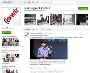 wirkungsvoll bei Google+