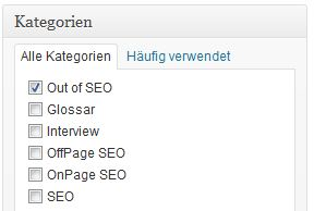 Kategorien bei WordPress