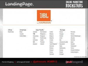 JBL Landingpages