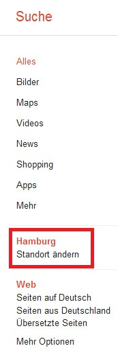 Standortbezogene Google-Suche