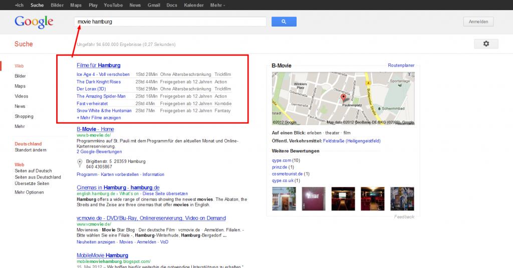 Google Suchergebnisse Kinoprogramm Hamburg