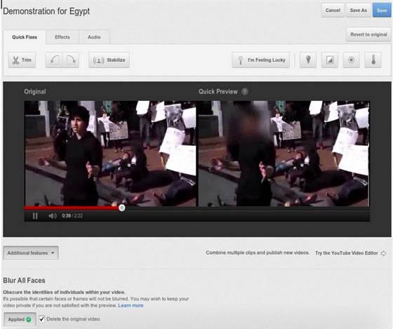 Gesichter unkenntlich machen auf Youtube