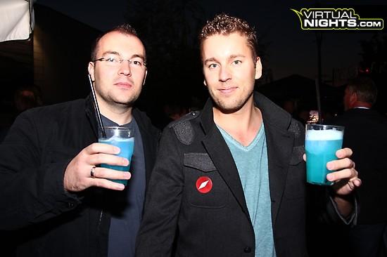 Nico Jenkel und Patrick Klingberg auf der OMClub Party.
