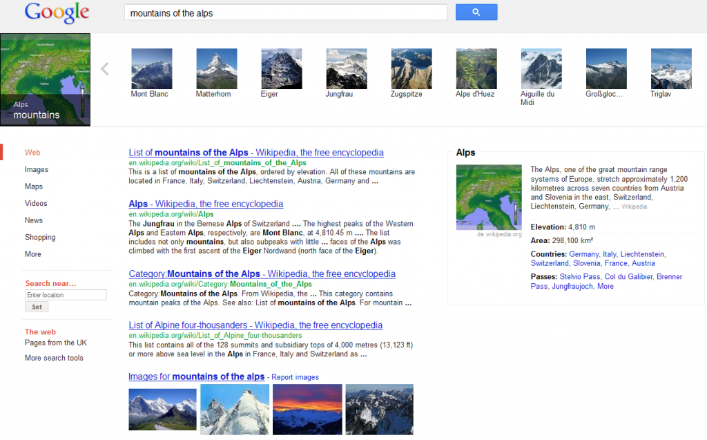 Screenshot vom Google-Knowledge-Graph-Karussel