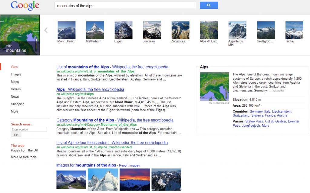 Screenshot vom Google-Knowledge-Graph-Karussel