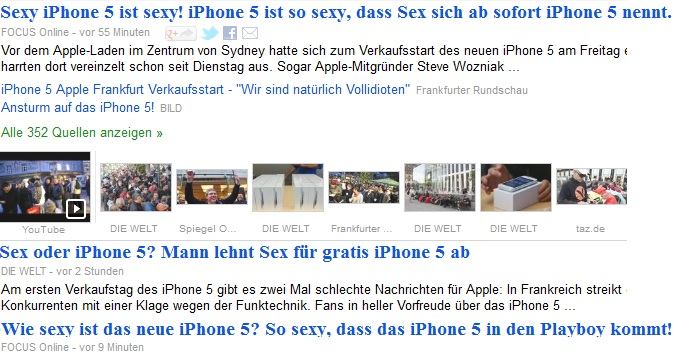 Google News: sexy iPhone ist sexy