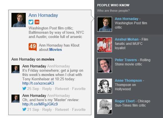 Klout Score wird in die Suchergebnisse von Bing integriert.