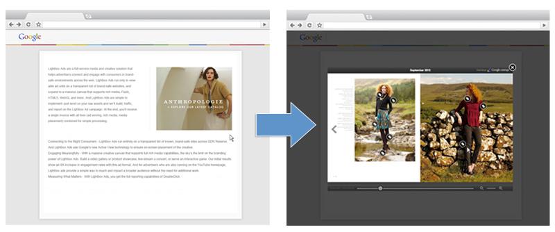 Das neue Anzeigenformat von Google: die Lightbox.