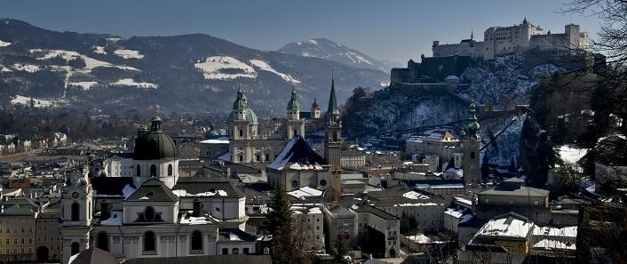 Winterpanorama von Salzburg