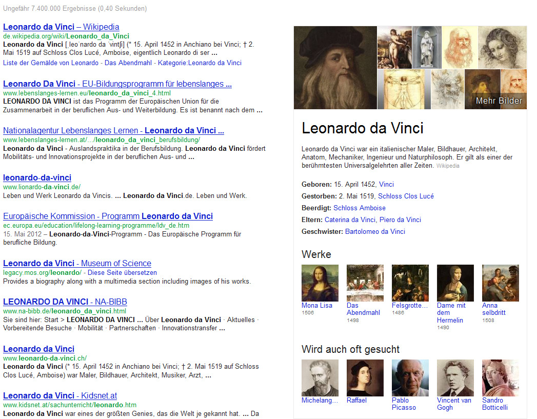 Leonardo Davinci – Knowledge Graph