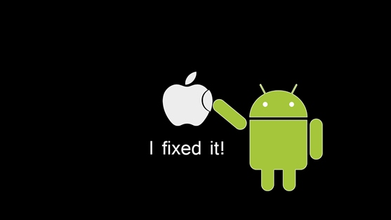 Android fixed it: Android fügt das fehlende Stück Apfel in das Apple Logo