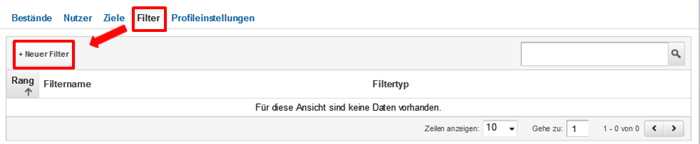 Filter erstellen - Google Analytics