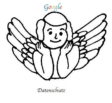 Zeichnung des Google Datenschutzengels