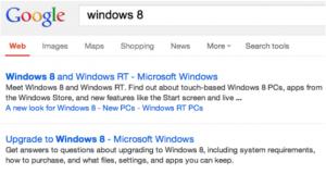 Google SERPs ohne URL