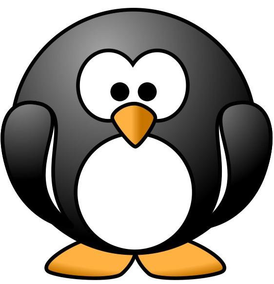 Süßer Zeichentrick Pinguin