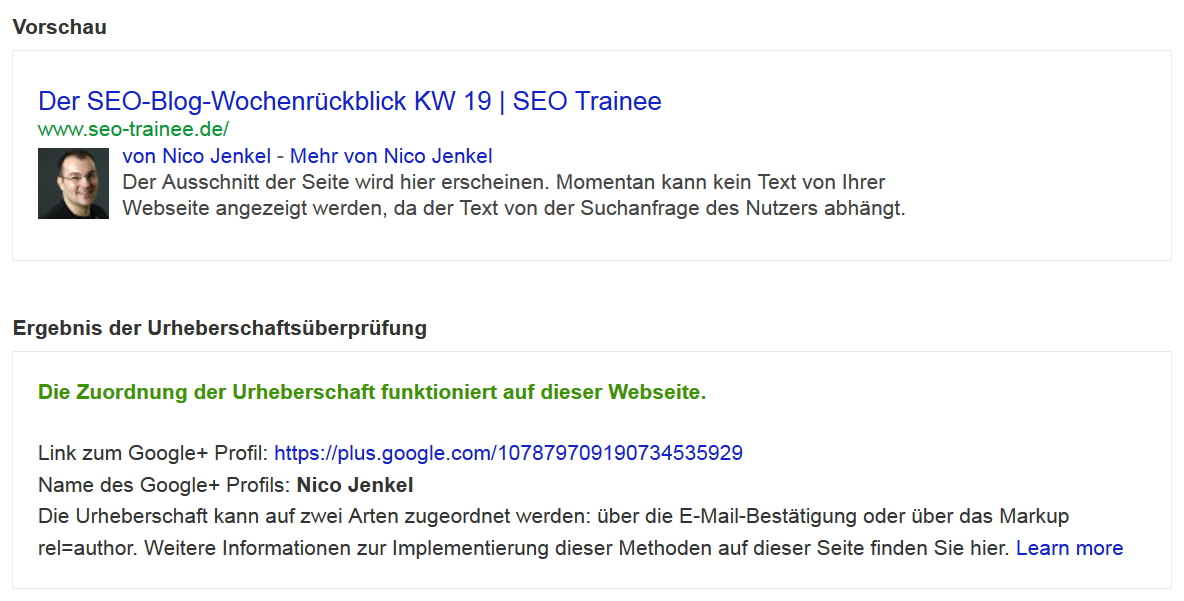 Test-Tool seo-trainee.de