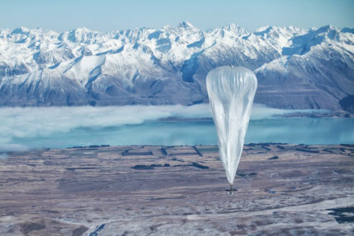 Einer der Google Testballons in Neuseeland