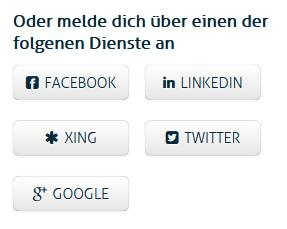 Soziale Netzwerk-Profile-Buttons
