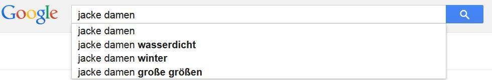 Google Suggest Jacke Damen