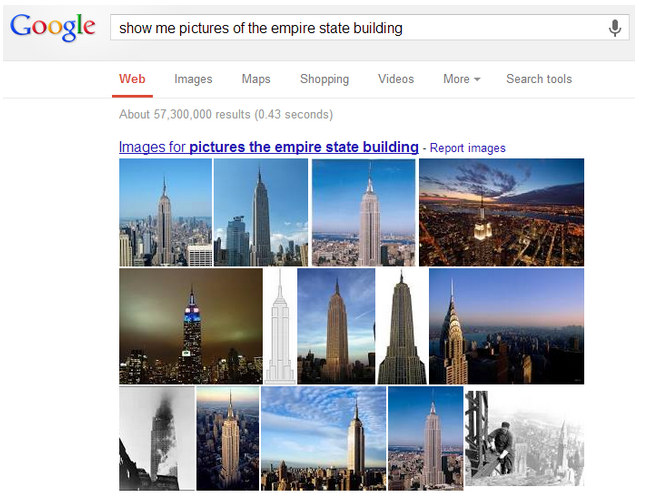 Google pictures of empire state building