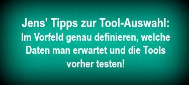 Tipps Jens Umland Tool-Auswahl