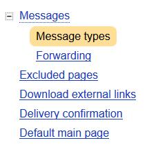Yandex settings