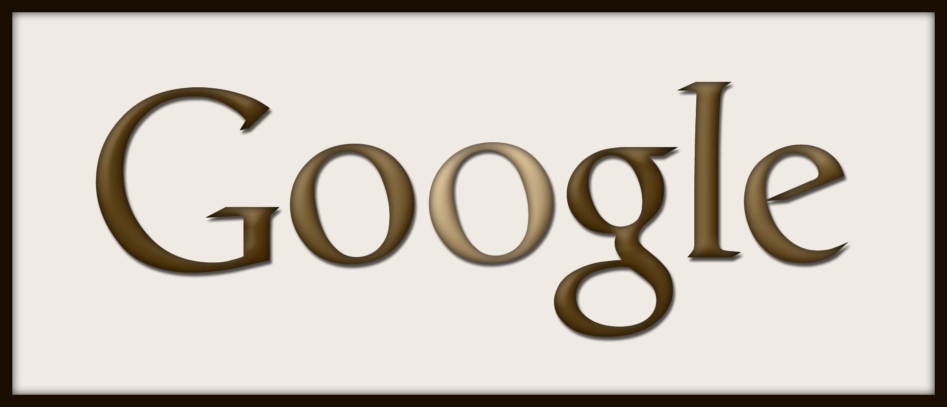 Google Logo sepia