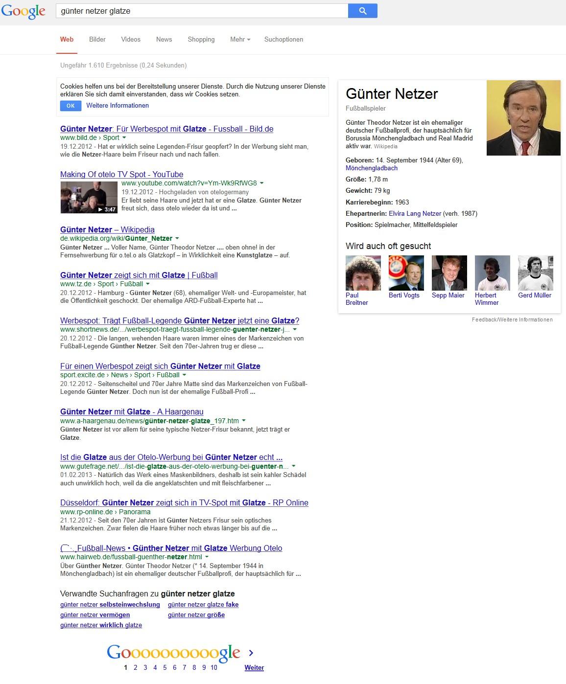 Google Suche Günter Netzer Glatze