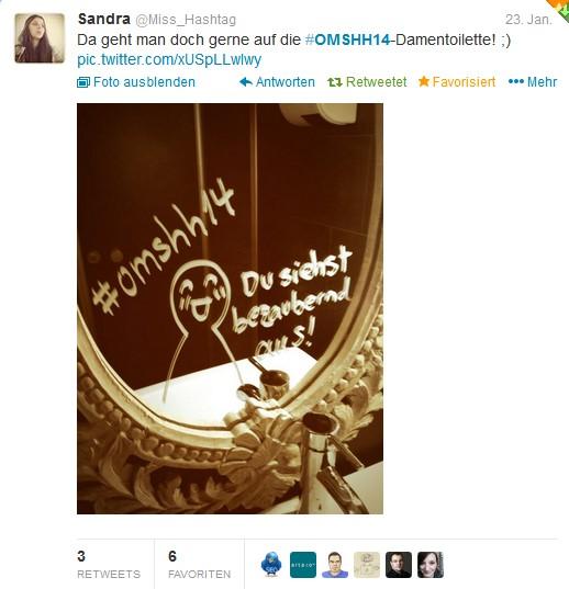 Tweet vom omshh14 mit Bild
