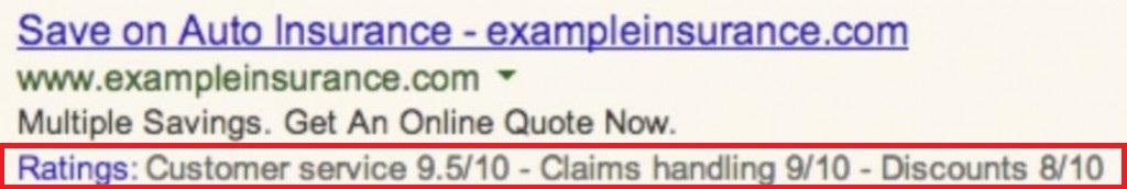 Adwords Anzeigen mit Kundenbewertung