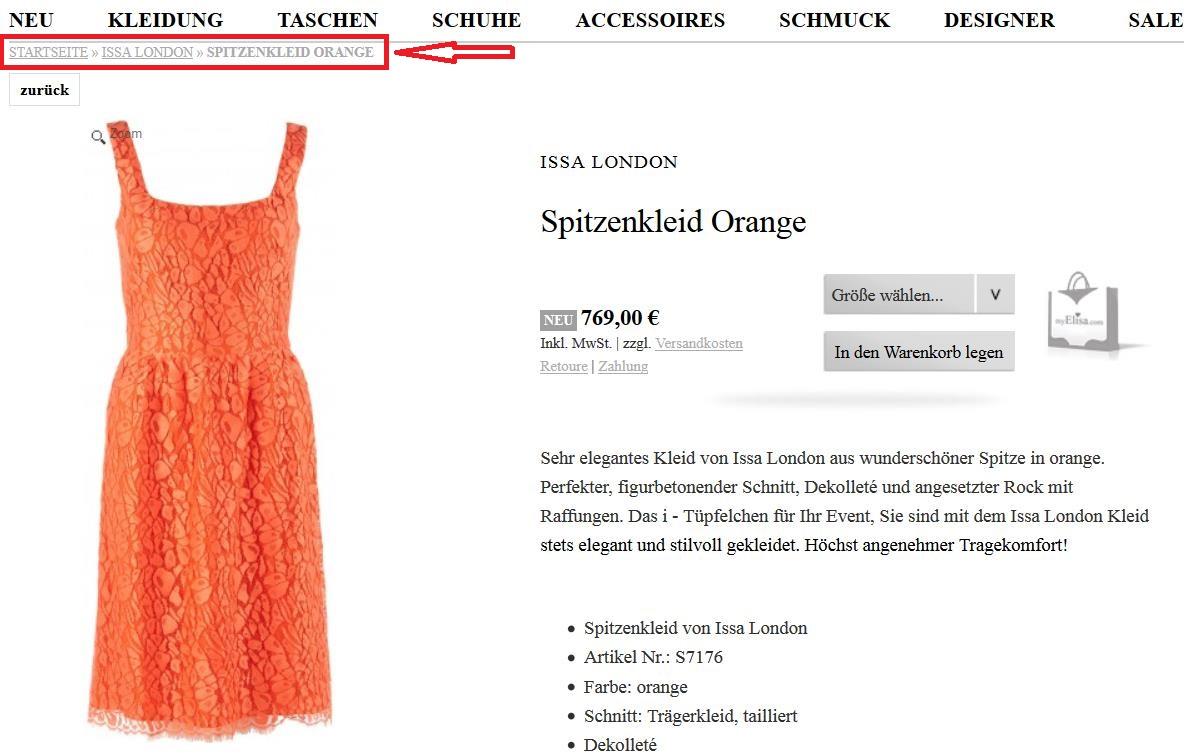 duplicate content online shops durch produkt in mehreren kategorien