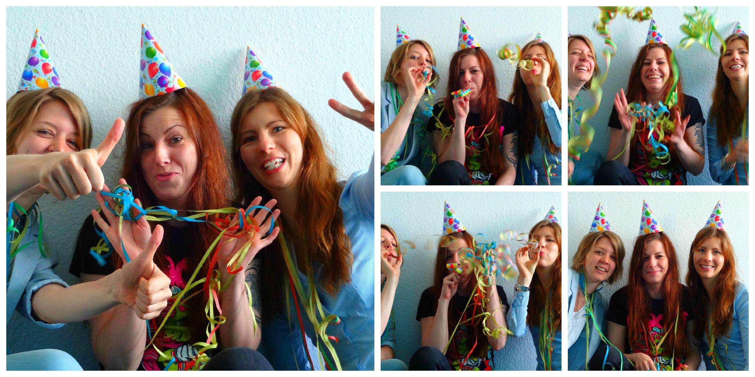 Gesa, Sabine und Amke feiern den 4. Geburstag von SEO-Trainee.de