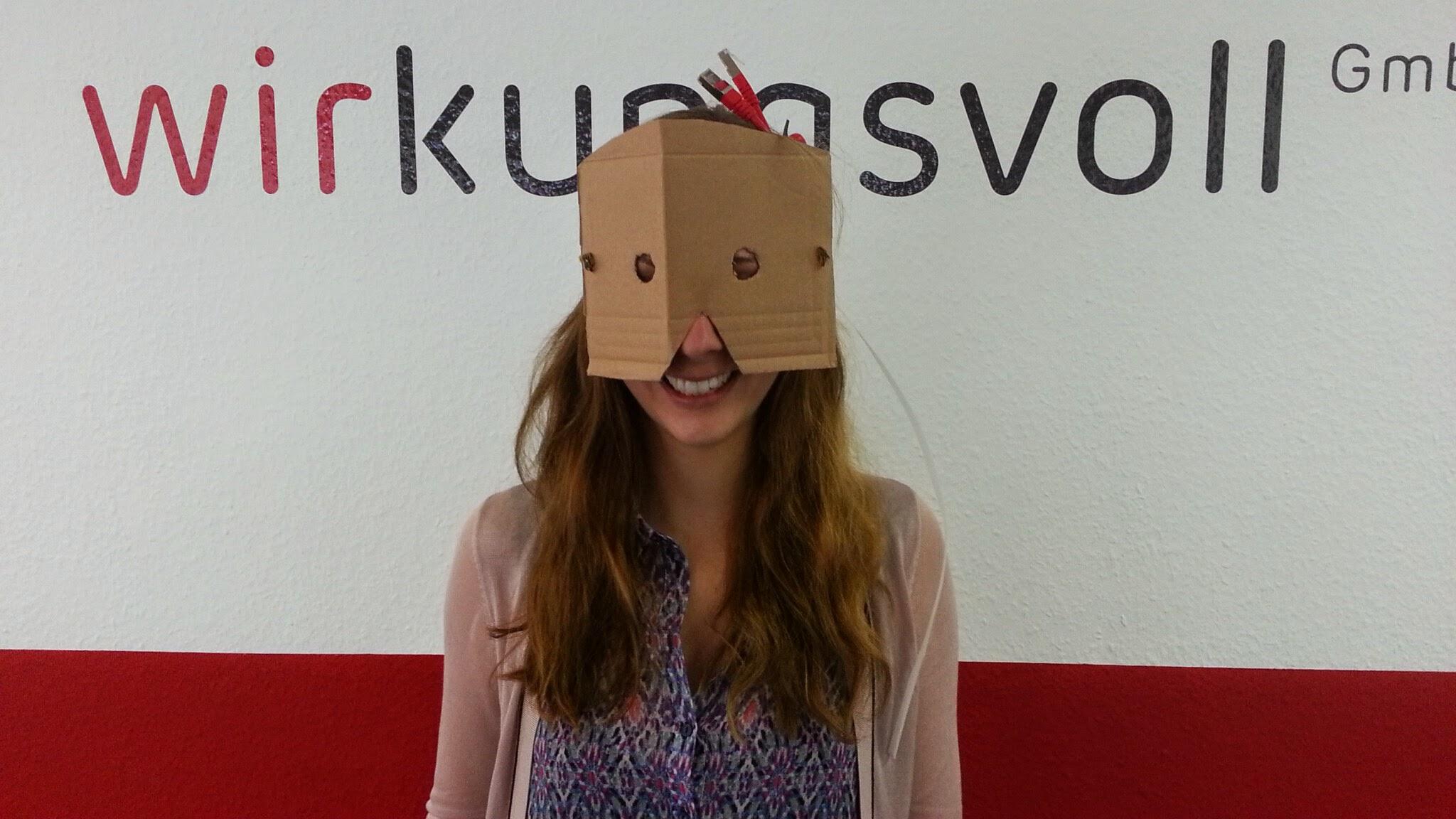 Gesa als Cardboard-Tester