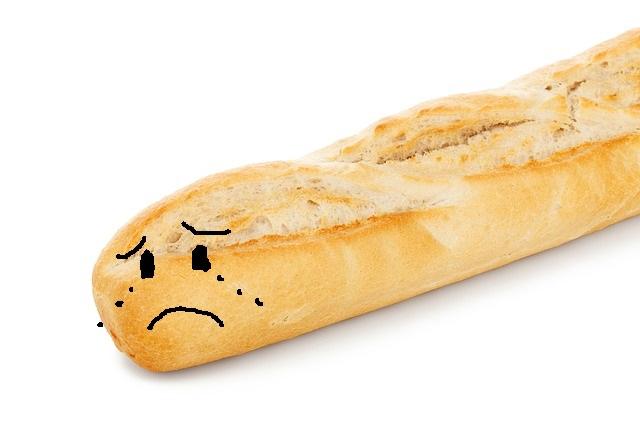 Ein trauriges Baguette