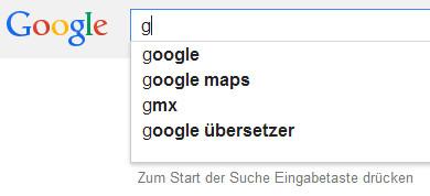 Die Autovervollständigen-Funktion von Google