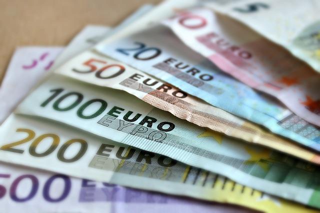 Geld Euro Banknoten