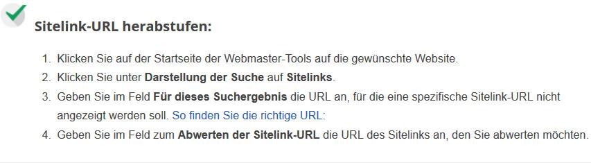 sitelinks-herabstufen