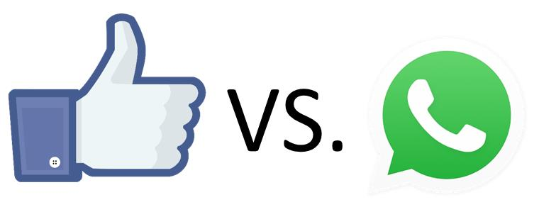 facebook like und whatsapp logo
