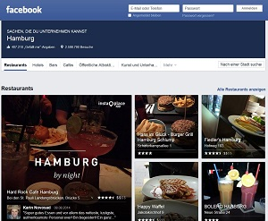 Screenshot Facebook Places