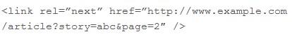 rel=next / rel=prev Meta-Tag